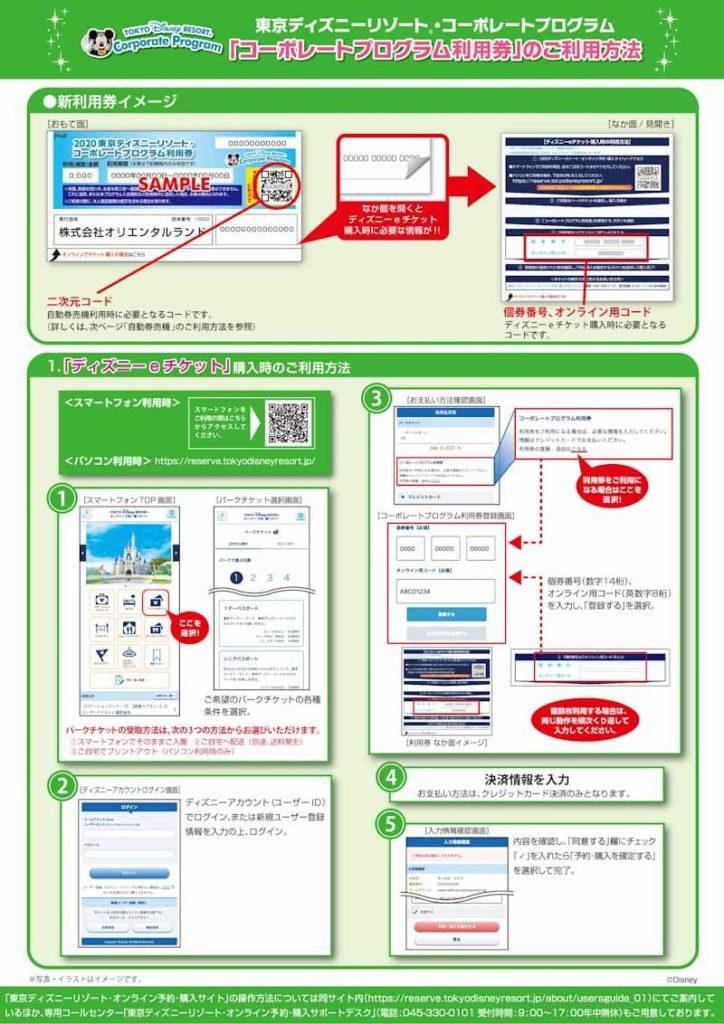 ディズニーコーポレート自動券売機使用方法(1)